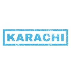 Karachi Rubber Stamp vector