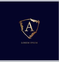 Letter a alphabetic logo design template vector