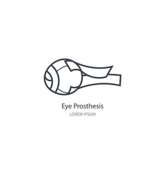 Logo eye prosthesis vector