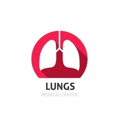 Lungs logo template isolated on white vector image