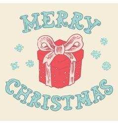 Merry christmas Card Christmas Greeting Card vector image