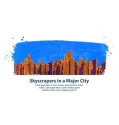 Modern city skyscrapers vector