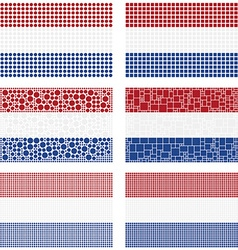Mosaic Netherlands flag set vector
