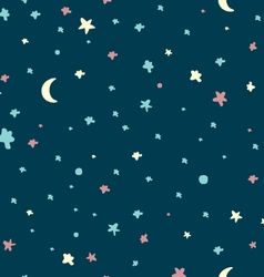 Night sky pattern vector