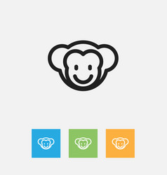 of animal symbol on baboon vector image