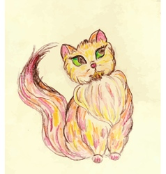 Persian Cat Sketch2 vector image
