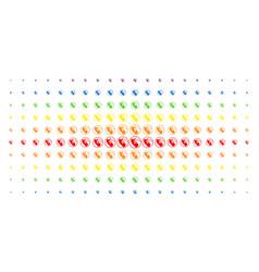 Prenatal spectral halftone effect vector