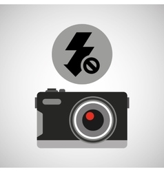 retro camera photographic no flash vector image