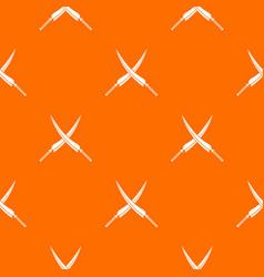 Samurai swords pattern seamless vector