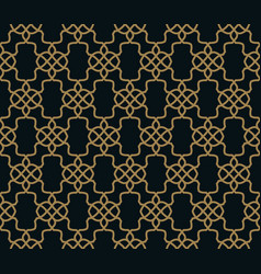 seamless pattern elegant linear ornament vector image