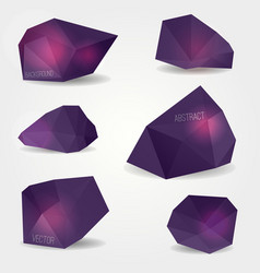 set abstract modern crystal shapes can be used vector image