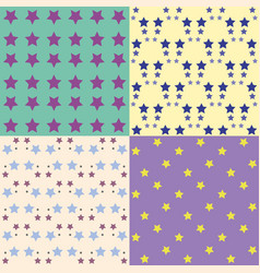 set of background patterns vector image
