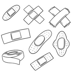 set of medical plaster vector image