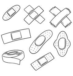 Set of medical plaster vector