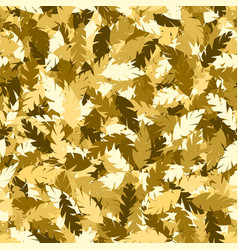 Simple pattern gold leaves vector