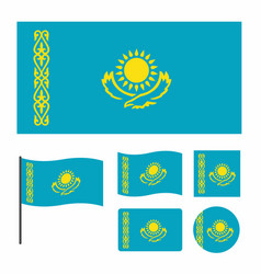 Simplified flag of kazakhstan for a small size vector