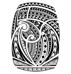 Sleeve tattoo in polynesian ethnic style vector