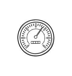 speedometer hand drawn outline doodle icon vector image