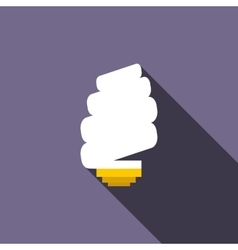 Spiral light bulb icon flat style vector image