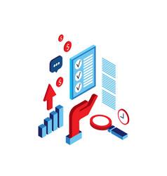 successful business process concept idea research vector image