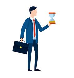 Successful businessman avatar cartoon vector