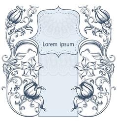 Symmetrical vintage ornate floral pattern vector