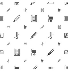 Temperature icons pattern seamless white vector