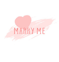 Text marry me vector