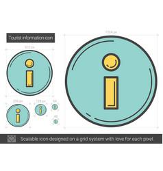 Tourist information line icon vector