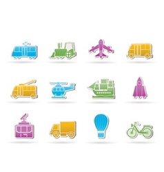 travel and transportation icons vector image