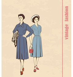 vintage fashion vector image