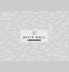 White and gray brick wall background texture vector