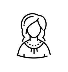 woman - line design single isolated icon vector image