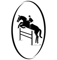 Equestrian sport vector image vector image