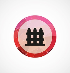 fence circle pink triangle background icon vector image