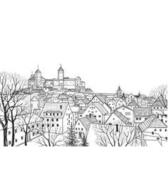 old city view medieval castle landscape german vector image vector image