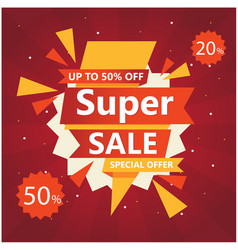 super sale up to 50 20 off special offer vector image