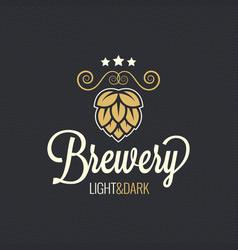 beer label hop vintage design background vector image vector image