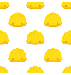 construction pattern hammer wrench spanner helmet vector image