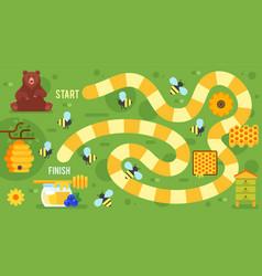 kids honey board game vector image