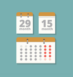 set wall calendars in flat style vector image