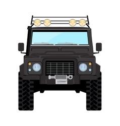 Black offroad car truck 4x4 vector image vector image