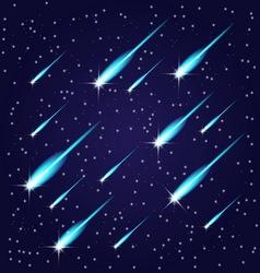 Flying meteors vector image vector image