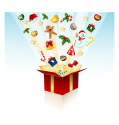 merry christmas gift - box vector image