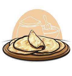 pita bread vector image