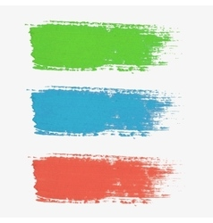 Set of colored paint-splatter The color vector image vector image