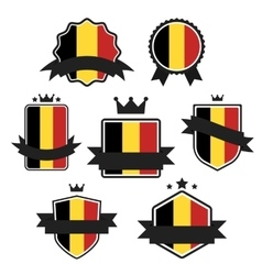 World Flags Series Flag of Belgium vector image