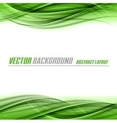 abstract green white center vector image