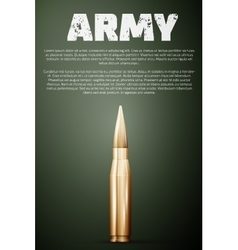 Army poster Graphic template vector image vector image