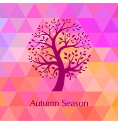 Autumn bright background for your design vector